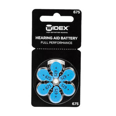 Батарейки для слуховых аппаратов ТИП 675